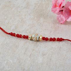 Red Beaded Rakhi