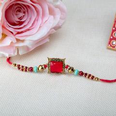 Graceful Red Stone Rakhi
