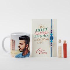 Rakhi Personalized Mug Combo