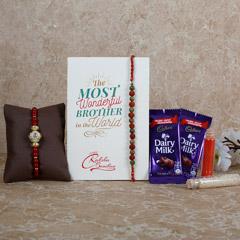 Beads Rakhi Dairy Milk Combo