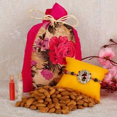 Almond Potli And Rakhi Combo