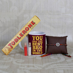 Swastik Rakhi And Toblerone Combo