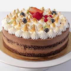 Flavorful Chocolate Meringue Cake