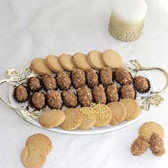 Assorted Delicious Butter Cookies And Choco