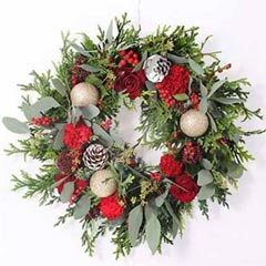 Beauty Of Natural Flowers Wreath