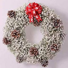 Gypsophila Xmas Wreath