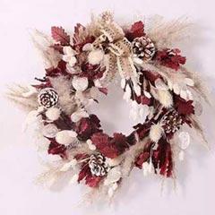 Elegant Dry Flowers Wreath