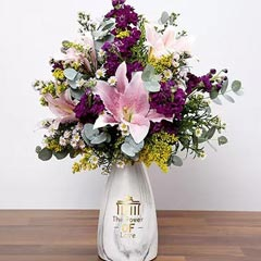 Pink and Purple Flower In Vase
